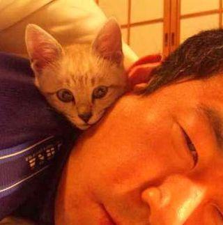 りくと寝る